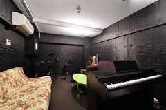 音楽室の様子。本格的な防音性能を備えています。(2021-03-18,共用部,OTHER,)