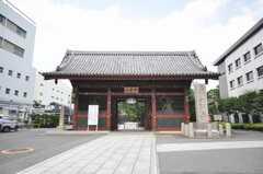 近くの護国寺の様子。(2009-08-03,共用部,ENVIRONMENT,1F)
