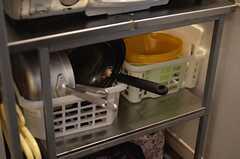 調理器具の様子。(2015-02-09,共用部,KITCHEN,1F)