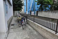 自転車置場の様子。(2016-07-19,共用部,GARAGE,1F)