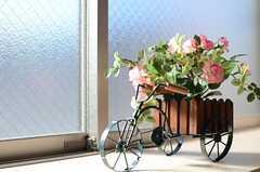 花を一杯プレゼント。(301号室)(2012-12-13,専有部,ROOM,3F)
