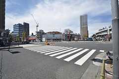 都営三田線・西巣鴨駅前の様子。(2015-04-15,共用部,ENVIRONMENT,1F)