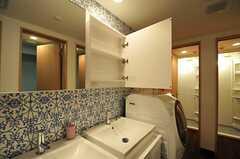 鏡の裏には歯ブラシなどを置くことができます。(2014-01-08,共用部,OTHER,3F)