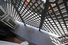 専用テラスの様子。(102号室)(2010-11-05,専有部,ROOM,1F)
