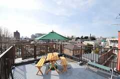屋上の様子。(2012-02-28,共用部,OTHER,4F)