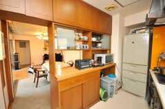 シェアハウスのキッチンの様子2。(2009-05-19,共用部,KITCHEN,9F)