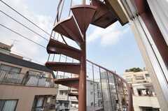螺旋階段の様子。(2009-10-19,共用部,OTHER,3F)
