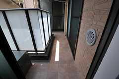 専有部のベランダの様子。(305号室)(2011-07-05,専有部,ROOM,3F)